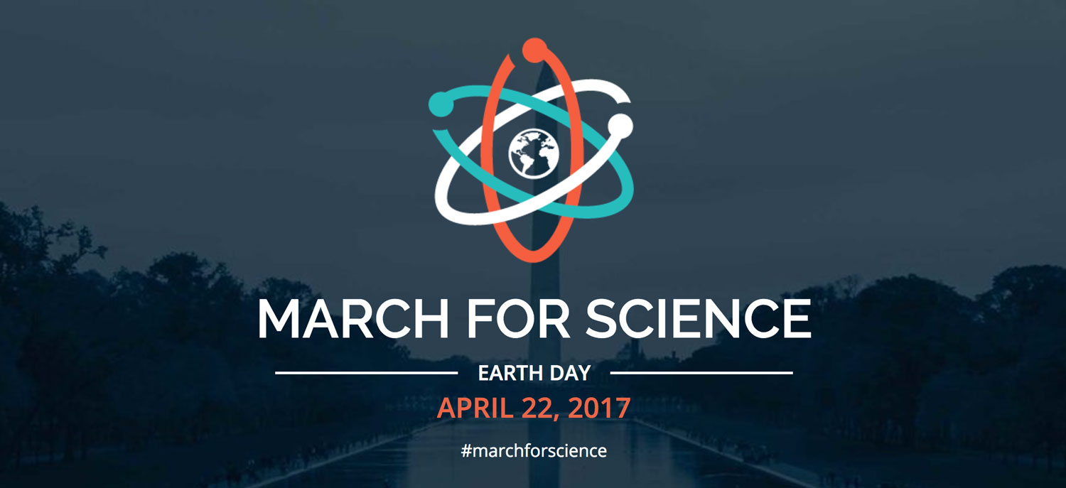 screenshot from March for Science website